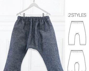 Harem Pants Pattern, Baby Sewing Pattern, Baby Harem Pants Pattern, PDF Sewing Pattern, Toddler Pattern, Boys Sewing Pattern, AVERY