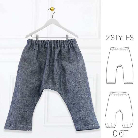 Harem Pants Pattern, Baby Sewing Pattern, Baby Harem Pants Pattern ...