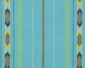Anna Maria Horner WOAH016 Loominous Tribe Turquoise Cotton Fabric By Yd