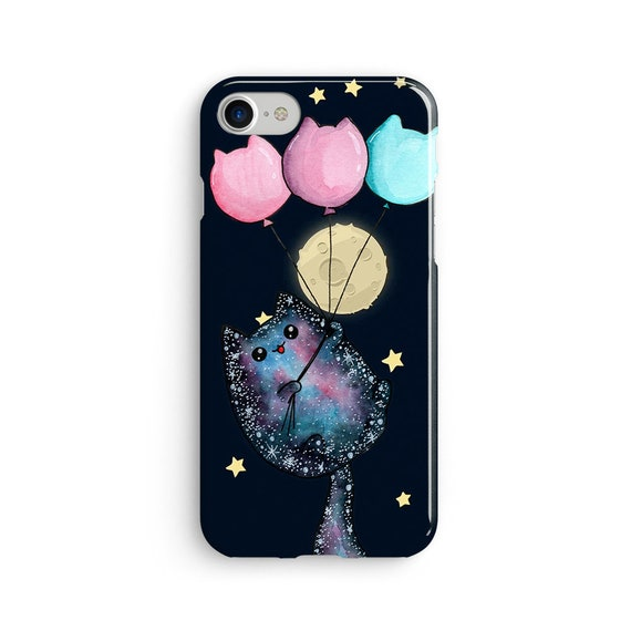Cosmic cat iPhone X case - iPhone 8 case - Samsung Galaxy S8 case - iPhone 7 case - Tough case 1P095