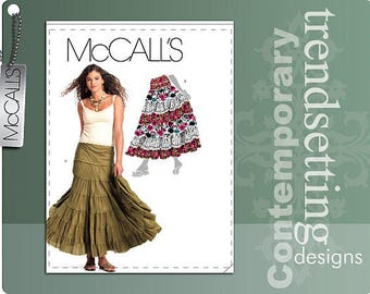 OUT of PRINT McCall's Pattern M5812 Misses' Skirts