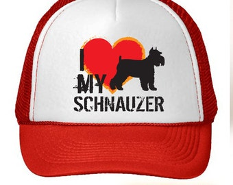 I Love My Schnauzer Dog Trucker Hat