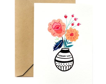 Thank you Greeting Card | Flowers for You
