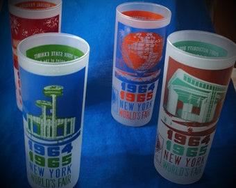 1964 New York World's Fair Memorabilia Tumblers