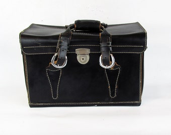 Large Mid Century Leather Camera Bag