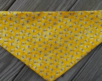 Bee and lady bug reversible tie on bandana