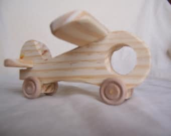 Small Toy Airplane, Handmade from Recycled Wood for the Little Kids