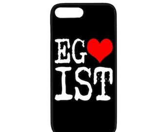Egoist Red Heart White Funny Cool Laugh Chic Case for iPhone 8 Plus