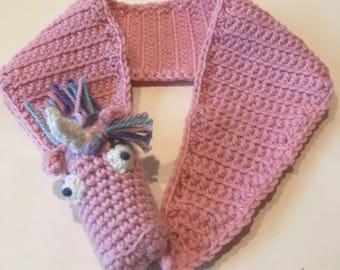 Child's scarf: Unicorn Draggle (2 - 6 years)