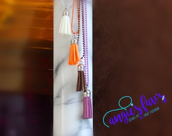 Ball Chain Necklace - Tassel