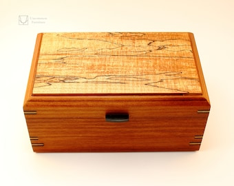 Old Growth Red Cedar Box with Spalted Maple and Ebony Accents.