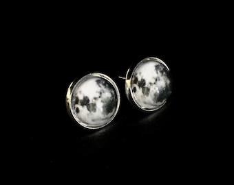 Moon Studs Full Moon Earrings | Full Moon Jewelry Studs | Full Moon Studs Gift | Full Moon Jewelry Studs | Full Moon Earrings Jewelry Gift