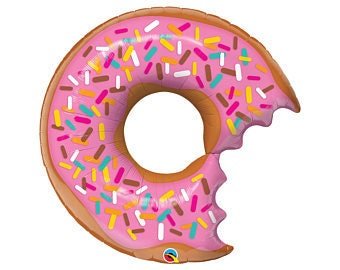 """36"""" Donut Party balloon / Party Hanging decorations/ sprinkles/ Colorful party/Girl Party/ Donut theme/ Doughnut"""