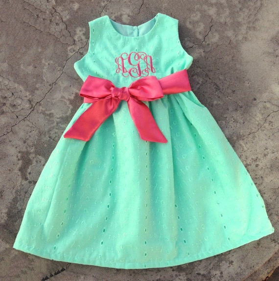 Monogrammed Baby girl clothes Personalized Baby Girls Dress