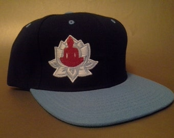 Lotus Snapback Hat made to order flat brim two tone Buddha FREE SHIPPING