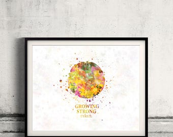 Game of thrones Tyrell Fine Art Print Glicee  Poster Watercolor Children's Illustration Wall - SKU2566