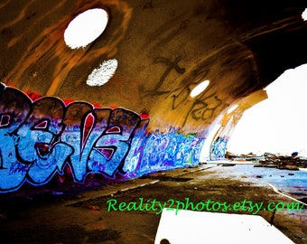 Set of 3! Abandoned Building Graffiti Art. Historic Photography. Colorful Prints. Wall Decor.
