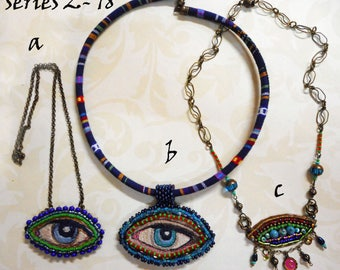 Eye necklaces, series 2- 18