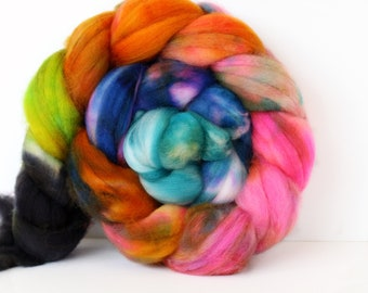 Late Night 4 oz Merino softest 19.5 micron Roving Top for spinning