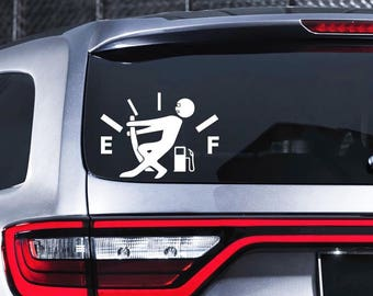 Funny Gas Gauge Decal Window Car Decal Empty Gas Decal Car Van Truck SUV Sticker