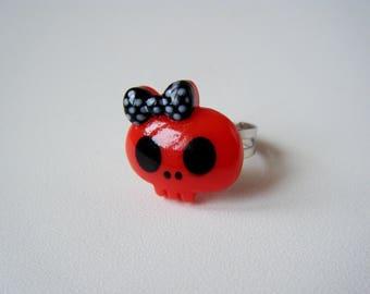 Ring - Skull - Red
