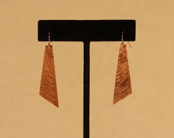 Linear Textured Rectangular Earrings
