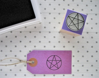 Pentacle Stamp. Pentacle Rubber Stamp. Pentacle Symbol. Wiccan Symbol. Wiccan Altar. Wiccan Gift. Pagan Altar. Wicca Altar. Wicca Gift