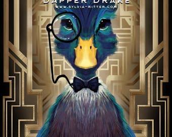 Dapper Drake - Large Signed Giclée Print