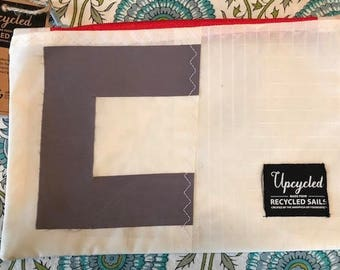 Upcycled Sail Clutch