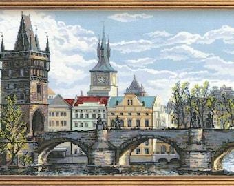 Charles Bridge - Prague - Cross Stitch Kit from RIOLIS Ref. no.:1058
