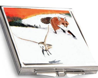 Fox & Owl  Compact mirror