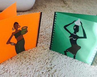 Miniature Tribal art cards