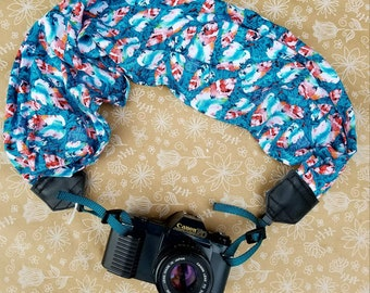 Scarf Camera Strap, dslr Camera Strap, Camera Neck Strap, Camera Accessories, Photography Props, Believe, Camera Strap with Feathers
