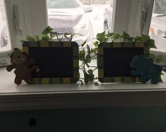Small safari chalkboards