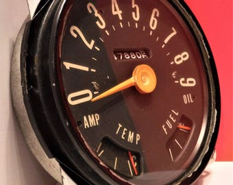 OLD SCHOOL INSTRUMENT Cluster....Possible Late 1940's Into The 1950's...Manufacturer Not Determined
