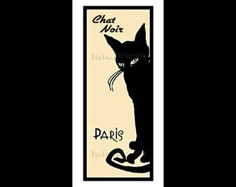 French Cat Cross Stitch, Cat Cross Stitch, Chat Noir, Cross Stitch Pattern, Needlepoint Patterns, Cat Pattern by NewYorkNeedleworks on Etsy