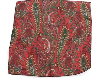 Vintage paisley polyester pocket square