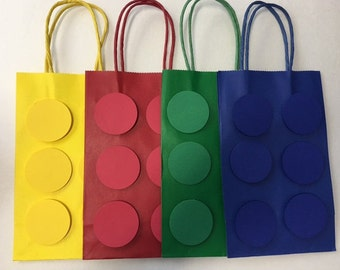 Building Block ~ Lego Inspired Party Bags ~ Favor Bags ~Gift Bags