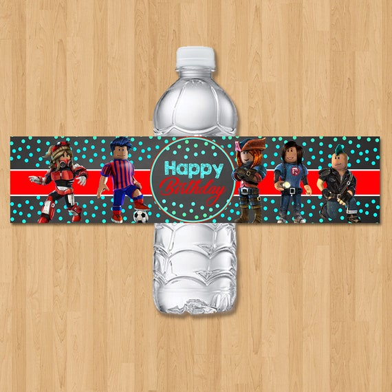 Roblox Birthday Drink Labels - Chalkboard Roblox Water Bottle Labels - Roblox Birthday Party - Roblox Party Favors - Roblox Party Printables