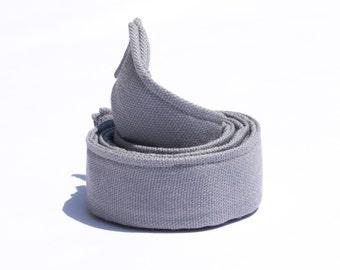 "Grey Children Belt - 1"" Wide Belt for Boys -Web Belt - Silver Belt - Waist Belts for Kids - Potty Training Belts for Boys - Baby Belts"