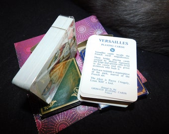 Versailles and Napoleon playing card decks the pair