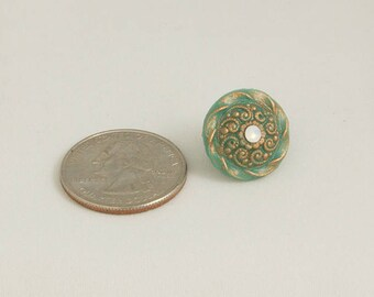 "Resin ""Bronze"" Small Swirl Brooch"