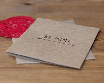 Valentine's Day Card Set of 10 - Be Mine