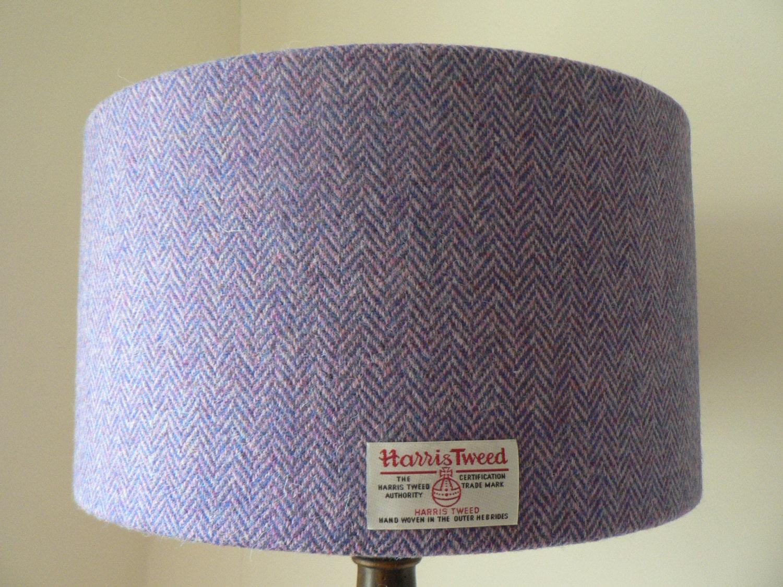 Harris tweed lampshade mauvelilac herringbone zoom aloadofball Image collections