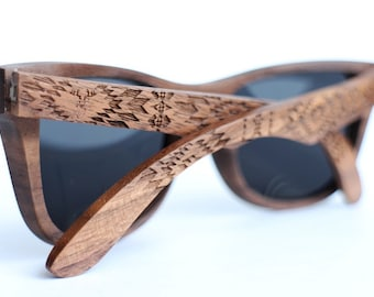 Wood Sunglasses from Walnut by WOODEER {Pattern} Collection