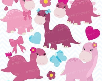 80% OFF SALE pink dinosaurs clipart commercial use, vector graphics, digital clip art, digital images - CL627