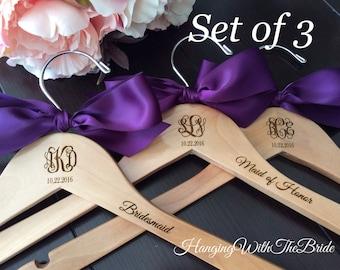 Bridesmaids gift, Monogrammed Wedding Gift, Engraved Hanger, Custom Bridal Hangers, Bridal party gift, Wedding hanger, Bride gift, Wedding