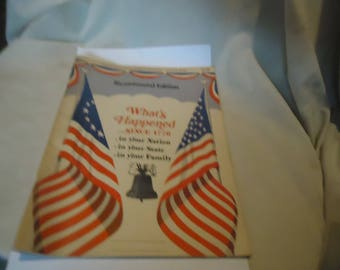 Vintage 1975 Bicentennial Record Book What's Happened Since 1776,  collectable