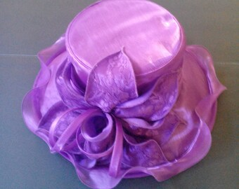 Lace Organza Flower Hat