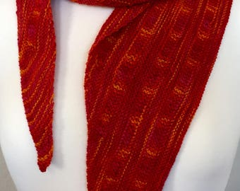 Hand Knit Garter Stitch Scarf